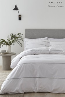 Halstead Pleat Duvet Cover and Pillowcase Set by Content by Terence Conran