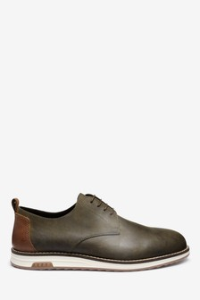 Wedge Sole Derby Shoes
