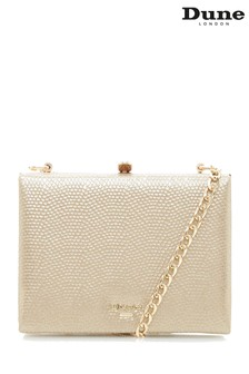 Dune London Gold Edenn Frame Bag