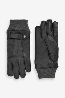 Usnjene rokavice s paščkom