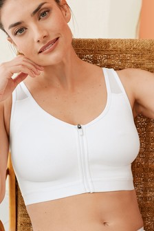 Daisy Wire Free Zip Front Total Support Bra
