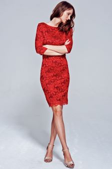 HotSquash Red The Lace Dress