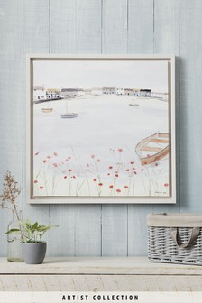 Artist Collection Across The Bay by Hannah Cole Framed Canvas