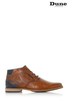 Dune Mens Tan Camo Detail Chukka Shoe