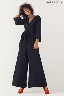 Mix/Kitri Studio Star Jacquard Wide Leg Jumpsuit