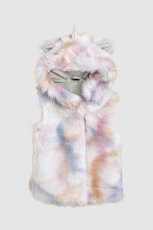 Unicorn Faux Fur Gilet (12mths-6yrs)