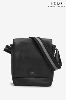 Polo Ralph Lauren Black Pebble Leather Cross Body Bag