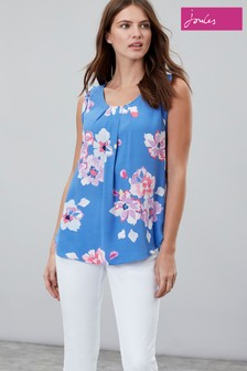 Joules Blue Alyse Sleeveless Woven Top