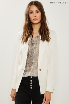 Mint Velvet White Ivory Tailored Blazer