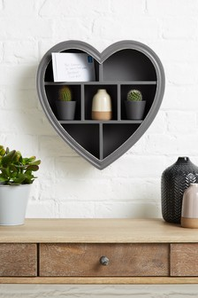 Mini Wooden Heart Shadow Box