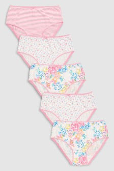 Floral Briefs Five Pack (1.5-12yrs)