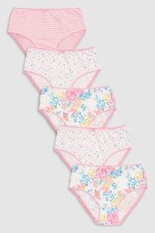 花卉圖案三角褲五件組 (1.5-12歲)