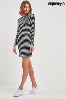 Superdry Black Stripe Lizzie Mini Bodycon Dress