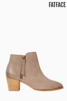FatFace Grey Acorn Zip Ankle Boot