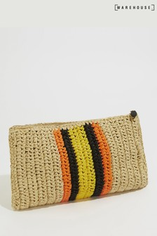 Pochette Warehouse souple naturelle en paille