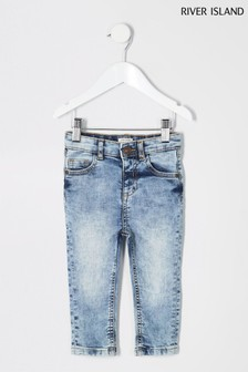 River Island Light Wash Sid Jean