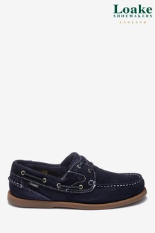 Loake Navy Suede Lymington Boat Shoe
