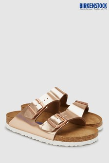 Birkenstock® Women's Metallic Copper Arizona Sandal