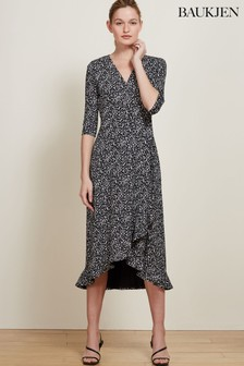 Baukjen Black Neesha Wrap Dress