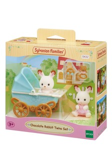Sylvanian Families Chocolate Rabbit Twins Set