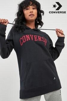 Converse Black Oversized Script Hoody