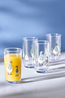 Set of 4 Duck Tumbler Glasses