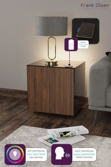 Frank Olsen Smart LED Black and Walnut Lamp Table