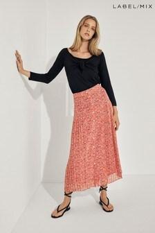 Mix/Kitri Studio Floral Pleated Skirt