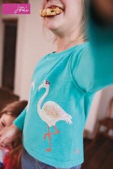 Joules Chloe Sweatshirt mit Kreuzbändern am Rücken, blau