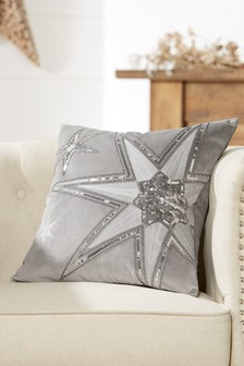 Beaded Star Cushion