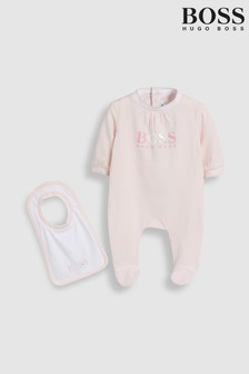 BOSS Baby Pink Sleepsuit And Hat Set