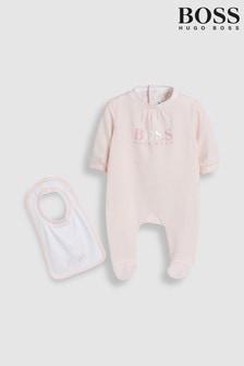 Różowy pajacyk i czapeczka BOSS Baby