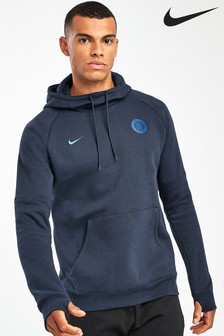 Nike Navy Chelsea Football Club Fleece Hoody