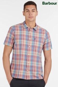 Barbour® Pink Madras 7 Short Sleeved Summer Shirt