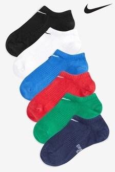 Nike Kids 6 Pack Multi No Show Training Socks