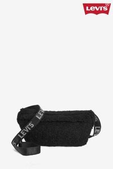 Levi's® Black Sherpa Banana Sling Bag