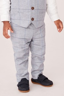 Windowpane Check Trousers (3mths-7yrs)