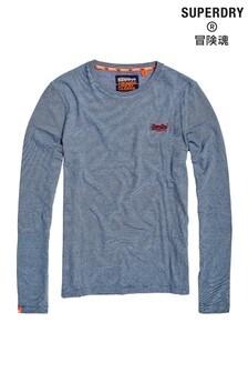 Superdry Blue Long Sleeve T-Shirt