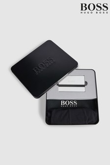 BOSS Black Boxer and Cardholder Gift Set