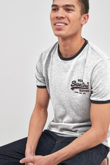 Superdry Grey Logo Tee