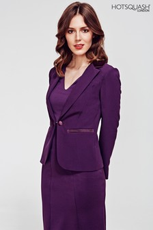 HotSquash Damson Tuxedo Jacket With Silky Trim