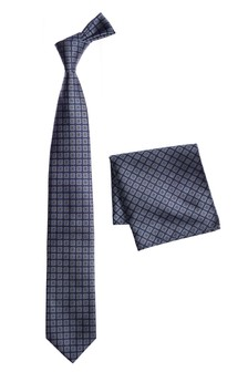 Галстук и нагрудный платок с узором