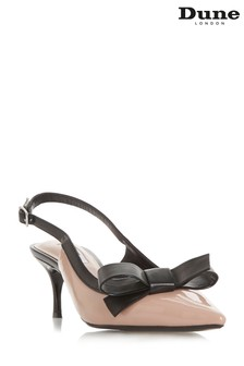 Dune London Camel Bow Detail Slingback