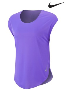 Nike City Sleek Purple Running Tee