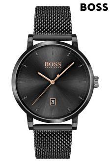 BOSS Confidence Black Mesh Strap Watch