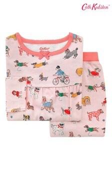 Cath Kidston Kids Pink Small Park Dogs Jersey Pyjamas