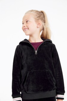 Velour Half-Zip Jacket (3-16yrs)