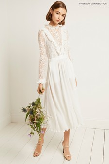 French Connection White Clandre Vintage Jumpsuit
