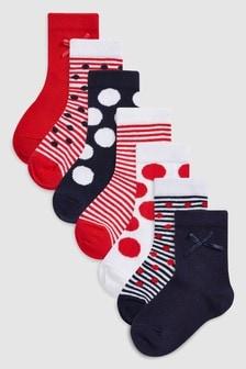 Spot/Stripe Socks Seven Pack (Younger)