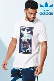 adidas Originals White/Blue Camo Tee